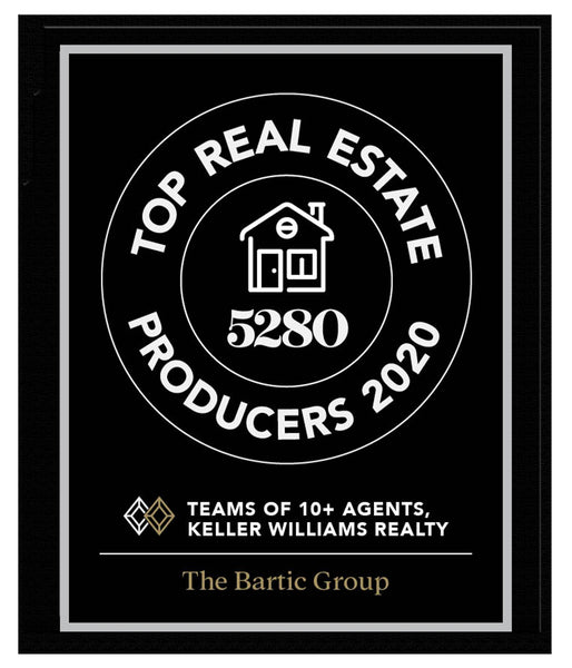 5280 Top Producers Group Plaque 2020