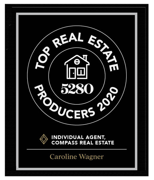 5280 Top Producers Individual Plaque 2020