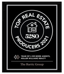 5280 Top Producers Group Plaque 2021