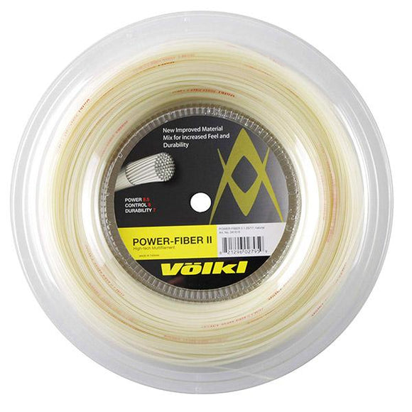 Volkl Power Fiber II Tennis String Reel (Natural)