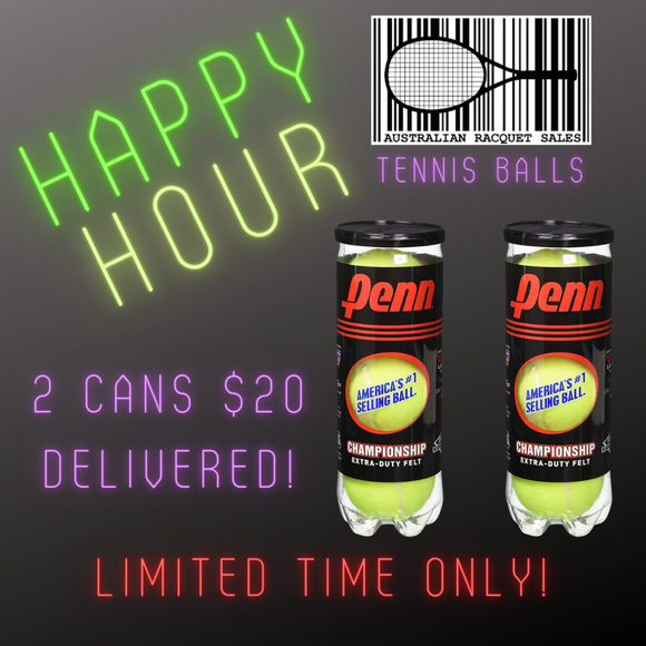 PENN Championship Tennis Balls - 2 Cans DELIVERED!