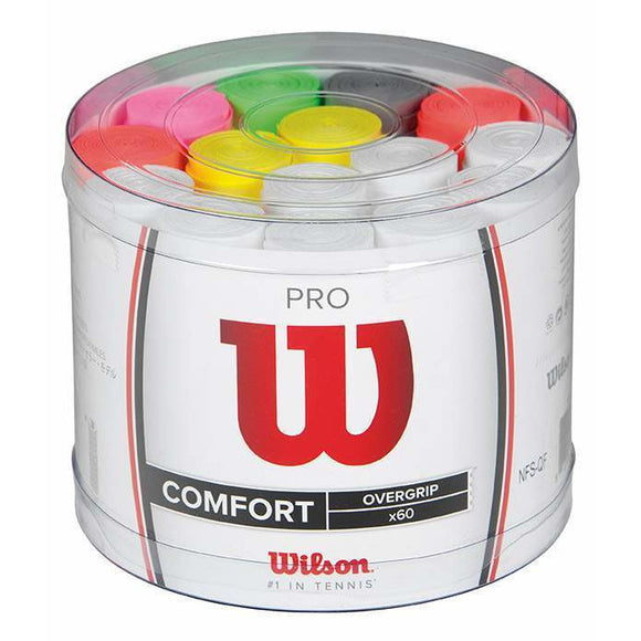 Wilson Pro Over Grip Assorted Colours (60 bucket)