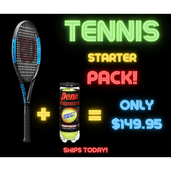 TENNIS STARTER PACK - ONLY WHILE STOCKS LAST!
