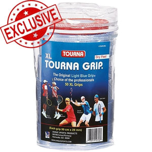 "Tourna Grip ""XL"" Roll (50x) Vinyl Case +FREE SHIPPING!"