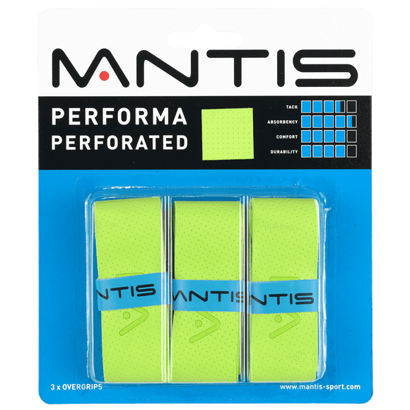 MANTIS Performa Perforated Overgrip - Green (3x)
