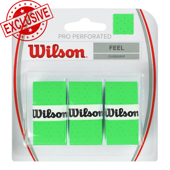 Wilson Pro Over Grip Perforated Green - Extra Absorption!