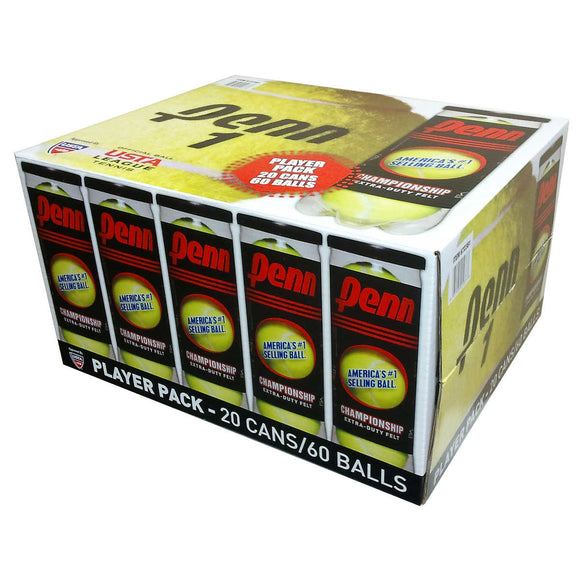 PENN Championship Tennis Balls - Box of 60 Balls
