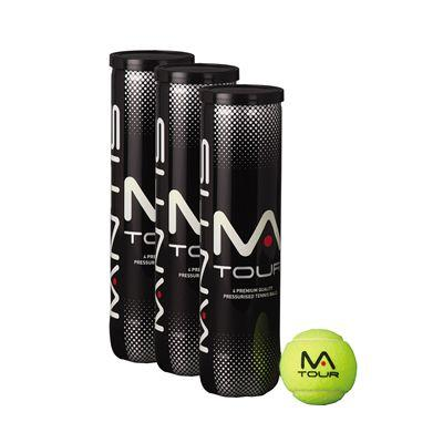 MANTIS Tour Tennis Balls - VALUE PACK (3 CANS OF 4, 1 DOZEN BALLS)