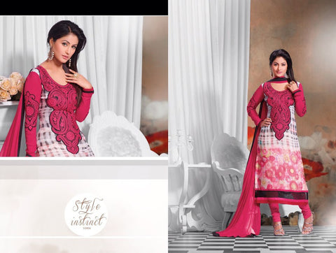 Zubeda chiffon digital suit 10904 - Pakeeza-Boutique  - 1