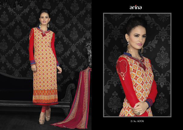 Arina - Vol-6 suit 6004 - Pakeeza-Boutique