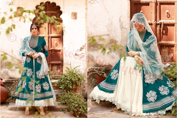 Floral - Royal Velvet suit 7300 - Pakeeza-Boutique