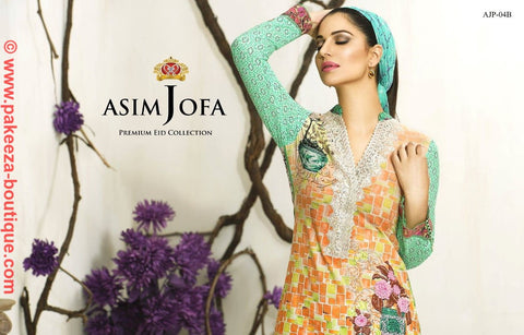 Asim Jofa Premium Eid Collection 2016 suit AJP-04B
