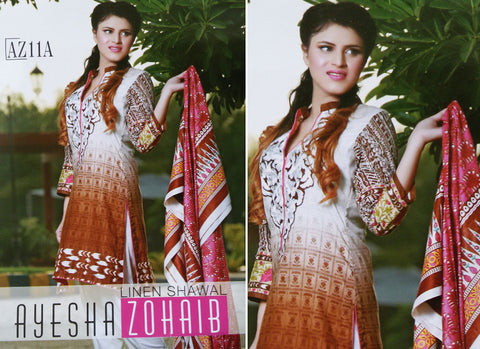 Ayesha Zohaib Winter Fall 2015 suit AZ11A