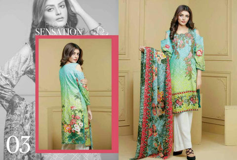 Ayesha Zohaib Linen Embroidery Vol 2 Suit D#03