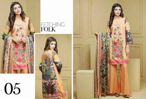 Ayesha Zohaib Linen Embroidery Vol 2 Suit D#05
