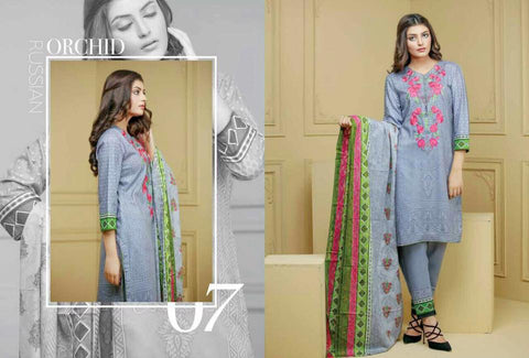 Ayesha Zohaib Linen Embroidery Vol 2 Suit D#07