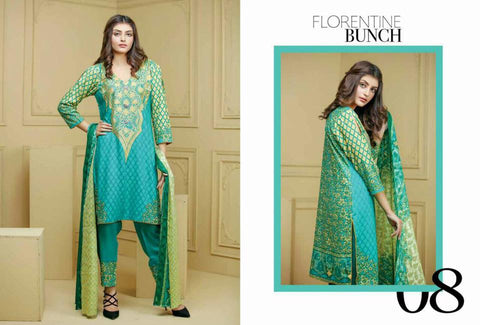 Ayesha Zohaib Linen Embroidery Vol 2 Suit D#08