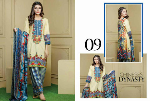 Ayesha Zohaib Linen Embroidery Vol 2 Suit D#09