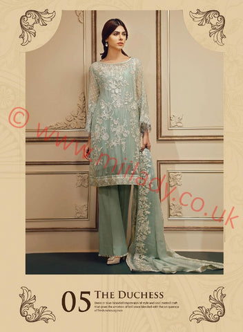 Baroque Chantelle Embroidered Chiffon suit D#05