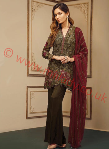 Baroque Chantelle Embroidered Chiffon 2017 suit D#08