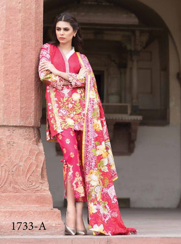 Bin Ilyas Luxury Lawn Vol3 D#1733A