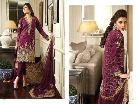 Crescent Luxury 2015 suit FM05 by faraz manan