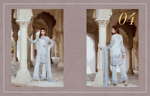 Serene Royal Chiffon 2017 suit D#04