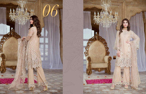 Serene Royal Chiffon 2017 suit D#06