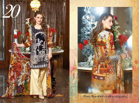 EshAisha Eid Collection 2017 suit D#20