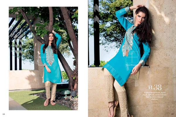 Gul Ahmed Essential Lawn 2016 suit TL-38
