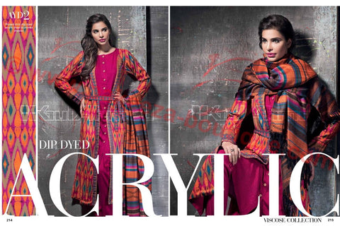 Gul Ahmed Winter 2015 suit AYD-02
