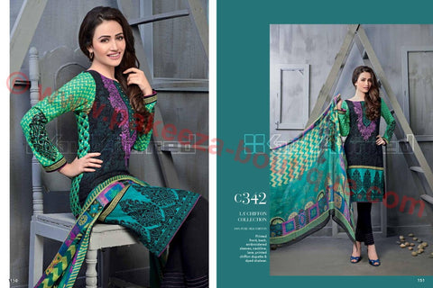 Gul Ahmed Winter 2015 suit C-342