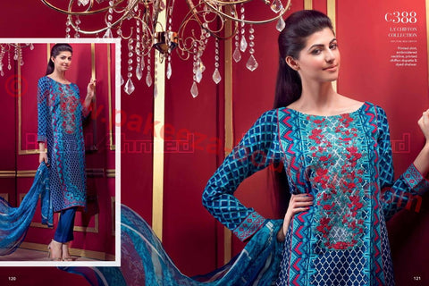 Gul Ahmed Winter 2015 suit C-388