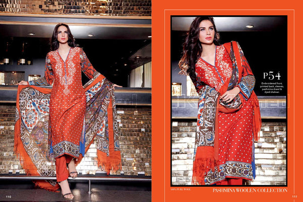 Gul Ahmed Winter 2015 suit P-54