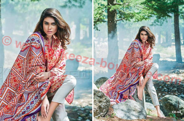 Gul Ahmed Winter 2015 Vol1 suit CD-4A