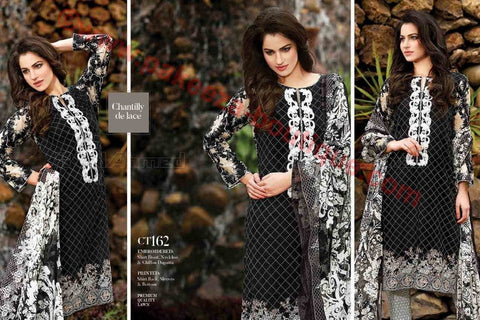 Gul Ahmed Summer Premium Lawn 2017 suit CT-162