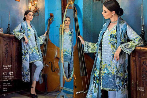 Gul Ahmed Summer Premium Lawn 2017 suit CT-182