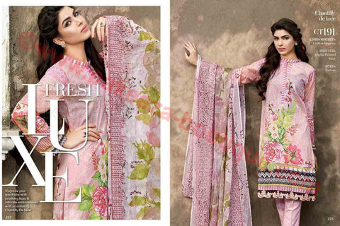Gul Ahmed Summer Premium Lawn 2017 suit CT-191