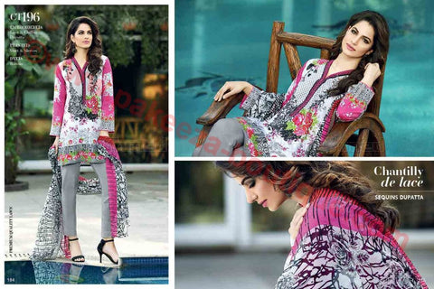 Gul Ahmed Summer Premium Lawn 2017 suit CT-196