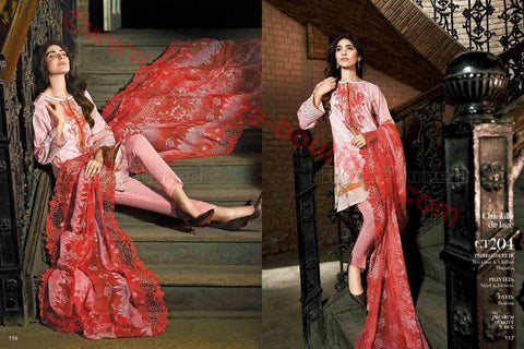 Gul Ahmed Summer Premium Lawn 2017 suit CT-204
