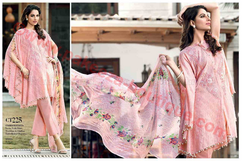 Gul Ahmed Summer Premium Lawn 2017 suit CT-225