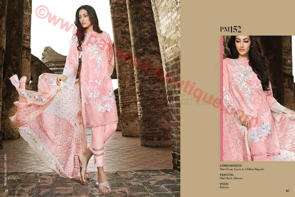 Gul Ahmed Summer Premium Lawn 2017 suit PM-152