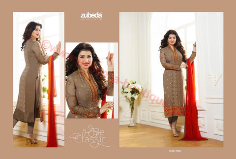 Zubeda Crystal Brasso Vol-7 Hit List suit 7002