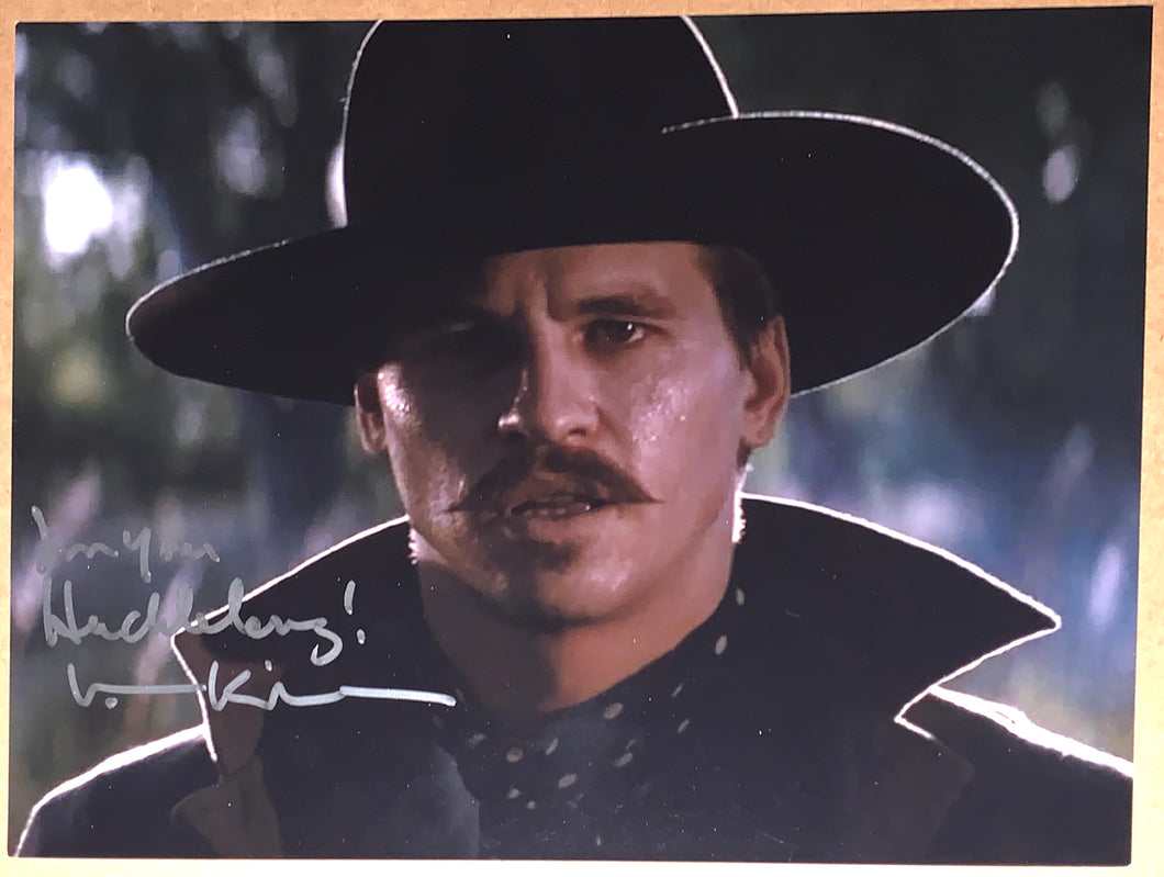 "Val Kilmer Signed Tombstone 11x14 w/""I'm your Huckleberry!"" Inscription"