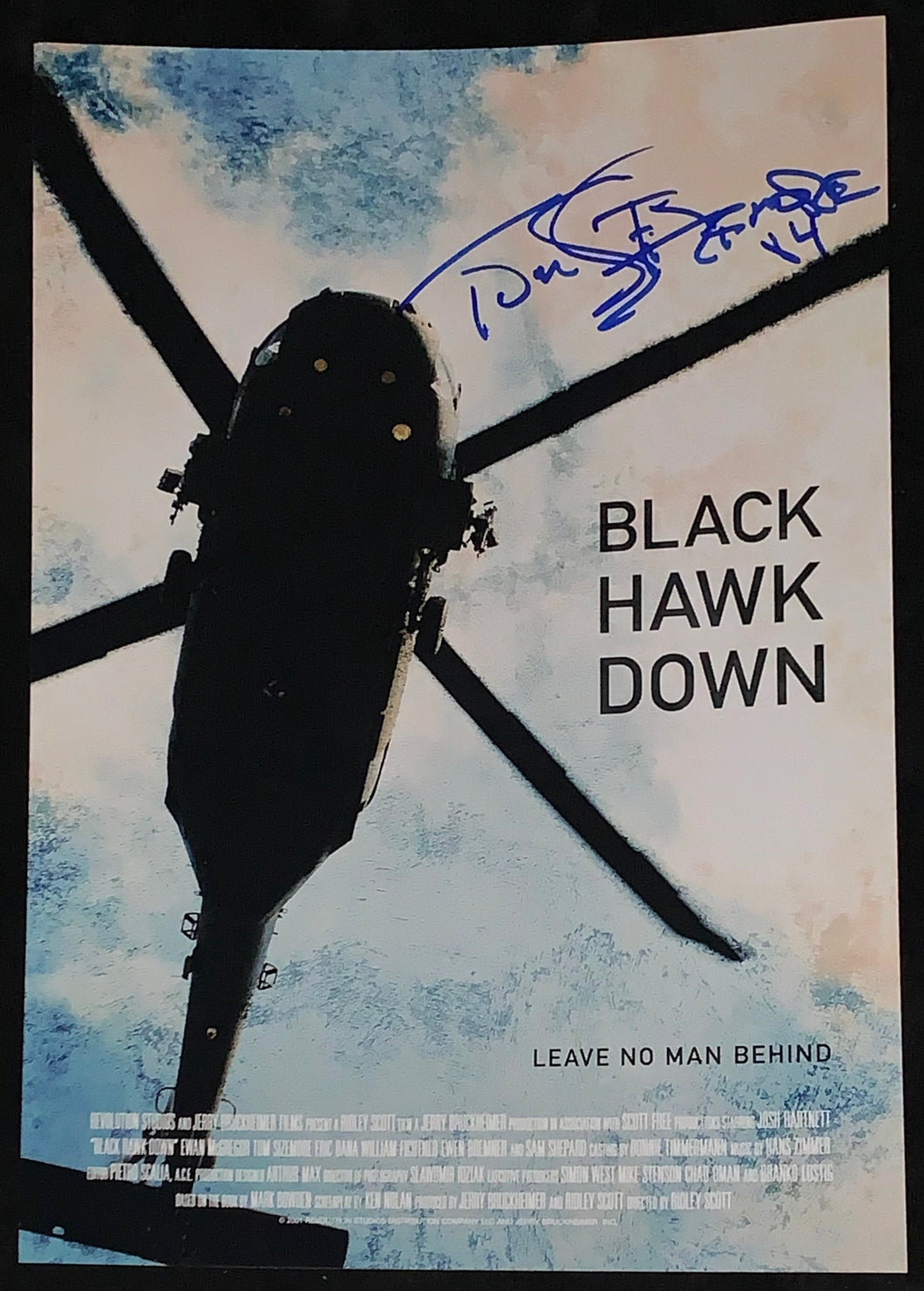 Tom Sizemore Signed Blackhawk Down 12x18 Poster