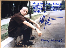 "Load image into Gallery viewer, Edward Furlong Signed American History X 11x14 w/ ""Hate is baggage..."" full inscription!"