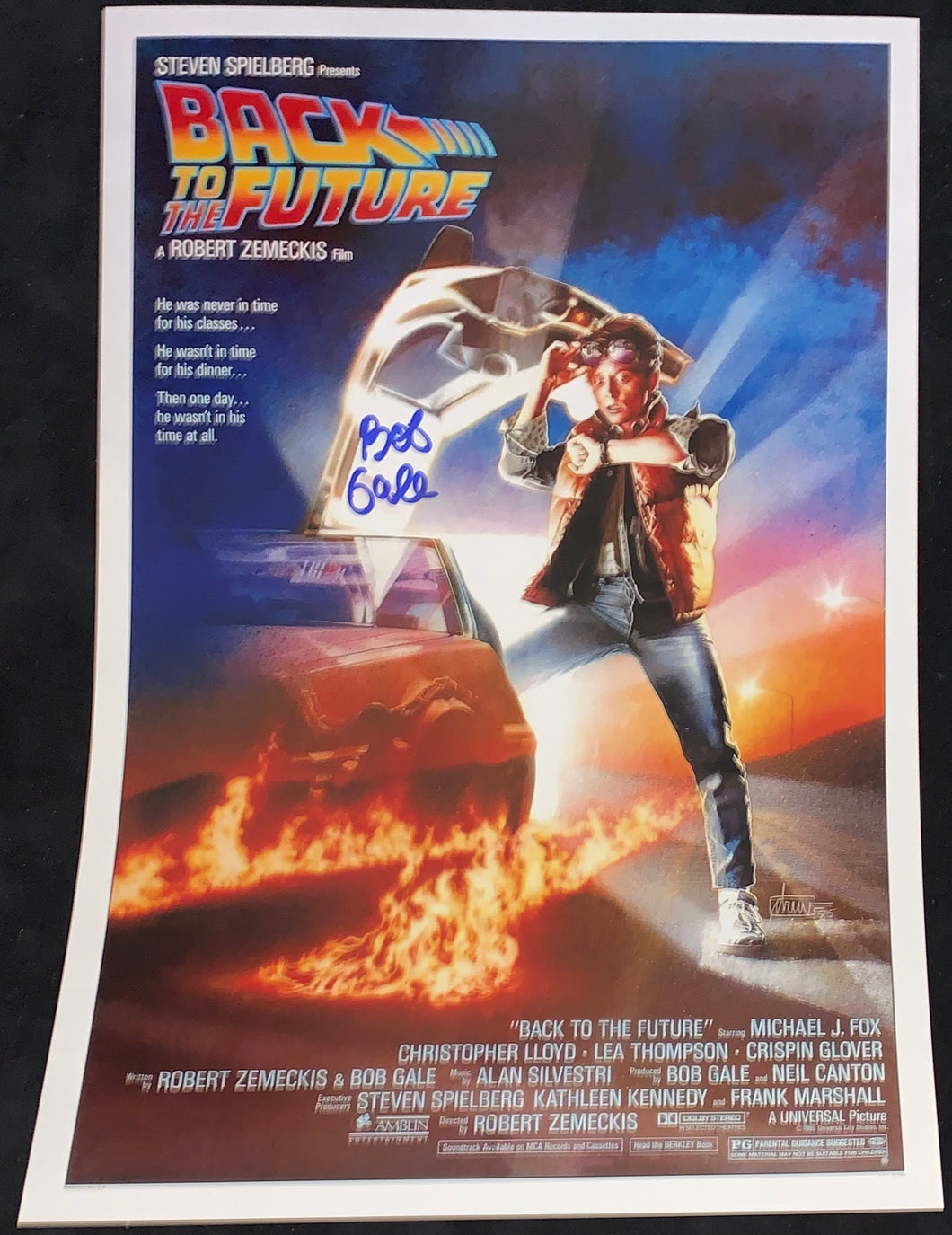 Bob Gale Signed Back to the Future 12x18 Poster