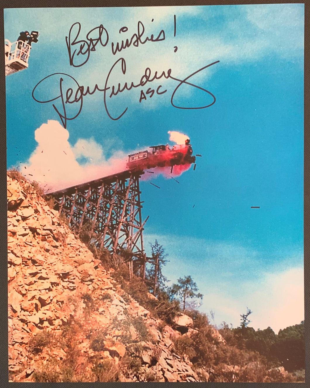 Dean Cundey Signed Back to the Future 3 8x10