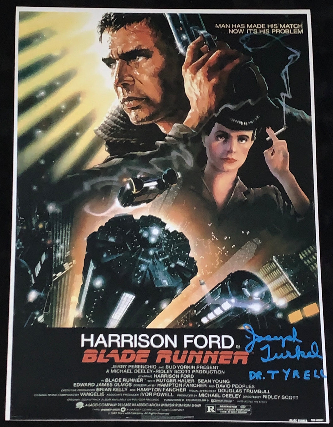 Joe Turkel Signed Bladerunner 12x18 Poster