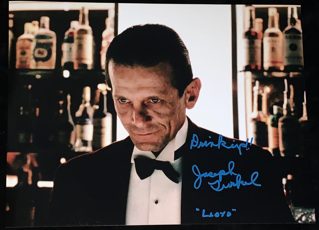 "Joe Turkel Signed Shining 11x14 w/""Drink Up!"" Inscription"